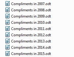 2015-01-5 List of Compliments Files